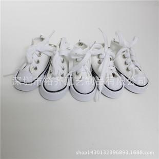 новый белый Аутентичные мини - брелок моделирования холст обувь брелок Converse холст обувь брелок