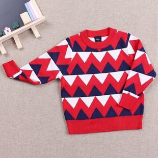 厂家直销秋冬童装针织衫外贸原单男童套头儿童毛衣加工定制