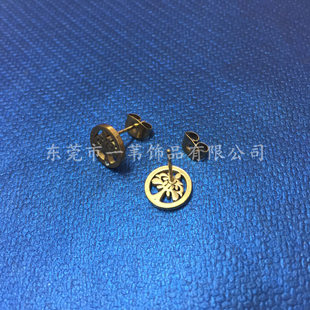 时尚可定制图案耳钉 单钻/无钻耳钉 明星 不锈钢耳环