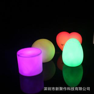 深圳工厂专供浪漫心形创意七彩灯 感应led氛围小夜灯触控台灯