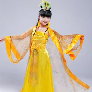 新款儿童古装汉服女童仙女演出服表演服影楼摄影服装古典舞蹈批发