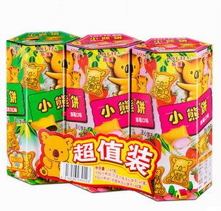 乐天小熊饼3连包优惠装147g单包