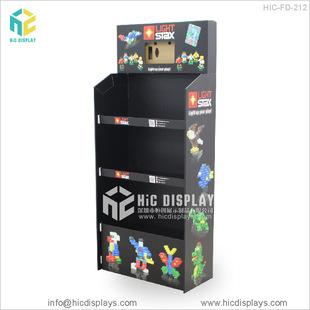 电动玩具陈列展示架儿童积木落地式纸货架便携拆卸装瓦楞纸展示架
