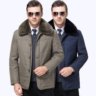 цветы осенью и зимой чайльд 2017 пожилых людей в пальто, куртки утолщение теплую зимнюю одежду воротник пальто мужской мао отец пункта