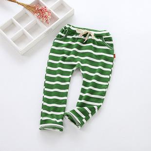 толщина полосы весной новая детская одежда брюки конфеты хлопка вмешаться Джокер пункта Харуна мужчин и женщин 童长裤 цвет