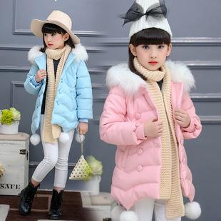 中大童新款羽绒棉服童装中长款棉袄加厚外套韩版可爱棉衣外贸货源