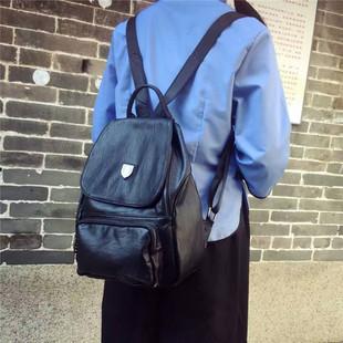 2017新款女双肩包韩版羊仔纹PU皮时尚女包潮流款休闲女背包批发