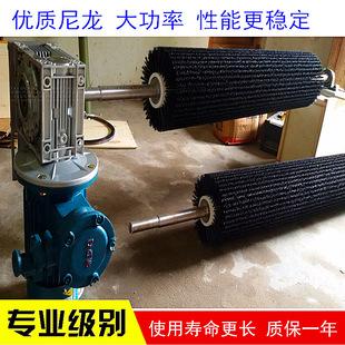 电动刷式清扫器尼龙刷辊 用于水泥厂 煤矿皮带维护减少人力投入