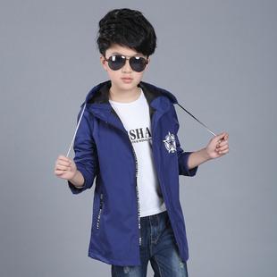 童装2017新款男童外套中大童韩版风衣秋款儿童运动服五角星风衣外