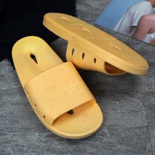 水滴拖鞋女夏天室内居家用防滑厚底情侣洗澡漏水塑料浴室凉拖鞋男