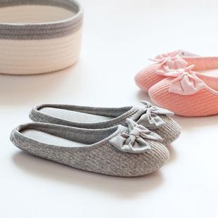 厂家直销春秋拖鞋 木地板拖鞋 居家室内棉拖鞋女式静音拖鞋批发