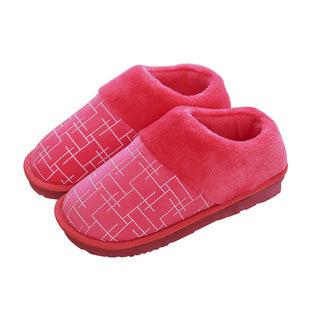 дверь с любой пакет хлопка, тапочки - тепло зимой дома любителей моросящий тапочки RYM2653260 (38 - 39) красный один двойной