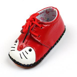 2017春季新款宝宝鞋子0-1学步鞋男女婴儿防滑软底真牛皮一件代发