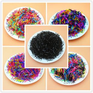 一包2000根儿童扎头发一次性橡皮筋可爱彩色儿童发圈 TPU皮筋发绳
