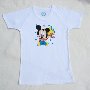 日本西松屋原单儿童卡通米老鼠印花T恤透气舒适夏季短袖男女批发