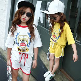 儿童装7女童套装2017夏季新款8休闲韩版11运动两件套大童女装12岁