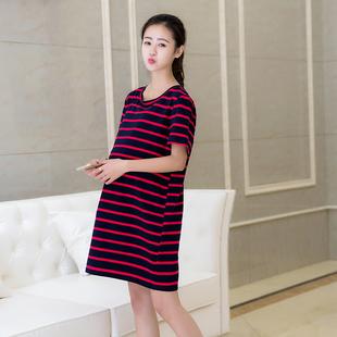 半身裙2017年春季新款时尚瘦身简约百搭潮流中长款短袖孕妇装