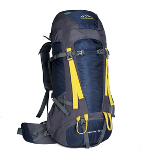批发定制专业登山背包男女户外旅行双肩背包带钢架背负带防雨罩