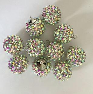 厂家直销 新款香巴拉钻球 16mm珍珠水钻球 单孔直孔吊孔 钻球
