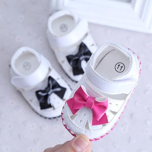 夏新款0-1男女宝宝半胶底凉鞋软底防滑婴儿学步鞋 支持一件代发
