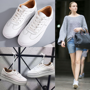 2219#2017 новый Джокер микроволокно кожа белая обувь casual кроссовки подготовки женщин