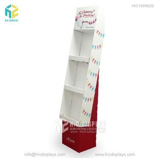 爆款学习用品陈列展示架 书本促销纸质货柜架 环保纸展示陈列架