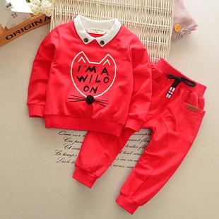 厂家直销新款男女宝宝童装婴儿衣服韩版春秋童套装幼儿长袖套装