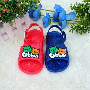 新款QQ儿童凉鞋学步鞋塑料软底防水防滑家居沙滩跑江湖越南鞋