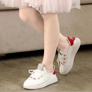 淘货源儿童运动鞋春秋新款男女童透气飞织网面跑步鞋休闲鞋微代发