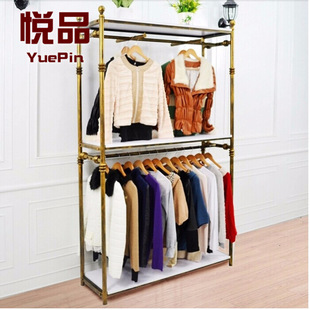 европейский стиль отображения прямых производителей одежды кованого железа одежды стенд одежды стойка одежды показывает шельфа посадку