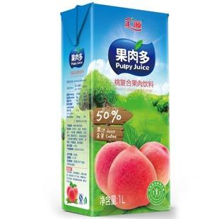 Хуэйюань 50% мякоти много персик комплекса фруктовые напитки 1000ml*12 коробка