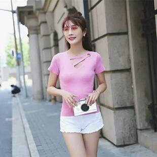 一件代发2017秋冬季新款女装毛衣韩版修身短袖女式针织衫加工批发