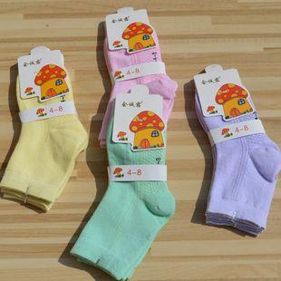 2017新款儿童袜子 纯色纯棉秋冬儿童袜 时尚透气无骨缝合袜子批发