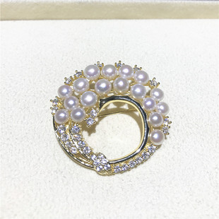 珍珠胸针 天然珍珠服饰配件天鹅胸针吊坠两用 珍珠衣饰一件代发