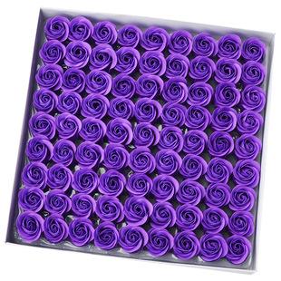 现货批发无底座香皂花 仿真玫瑰花 喜糖盒礼品盒装饰花朵