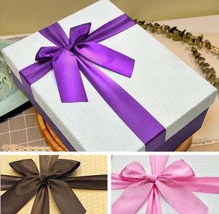 精美长方形礼盒 蝴蝶结礼品包装盒批发 创意韩风 纸盒定制