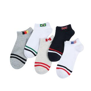 北极绒罗口国旗男士船袜单双装BJR-137单双
