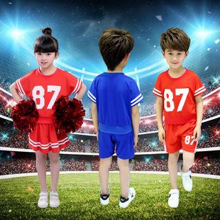 儿童啦啦操服装少儿健美操舞蹈表演服小学生啦啦队服装演出服
