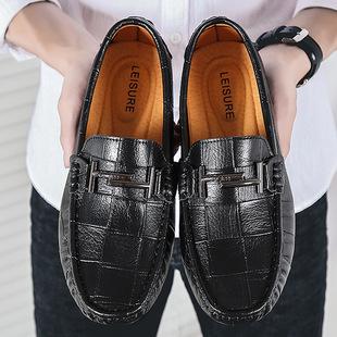 [производителей] осенью прямых поставок новых горох туфли глдкая кожа кожа кожной оптовой мужские ботинки британских рукав ног обувь