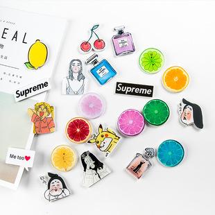 0710 家居生活创意可爱水果冰箱贴磁贴立体冰箱磁铁留言贴 批发