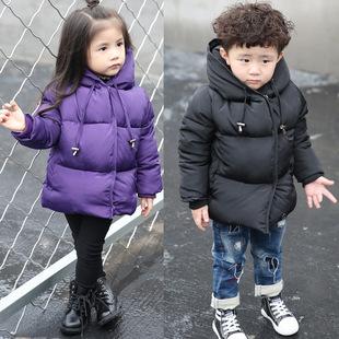 2017男童女童冬季棉衣 中小儿童短款棉服宝宝加厚面包服韩版棉袄