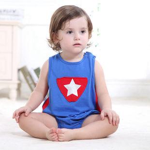 一件代发奇乐兔三角哈衣新生儿爬服百日宝宝拍照衣服一周岁