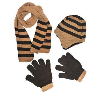 围巾帽子手套三件套 冬季儿童围巾帽子两件套针织儿童三件套帽