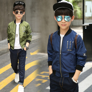 童装男童韩版外套2017秋装新款中大儿童棒球服夹克上衣潮一件代发