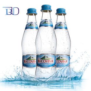 罗马尼亚进口苏打水原瓶含气布科维纳BUCOVINA商务会议12瓶装批发