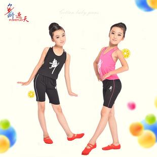 с короткими рукавами популярность девочек жилет детских танцевальных постановок одежды шорты шоу одежда оптом