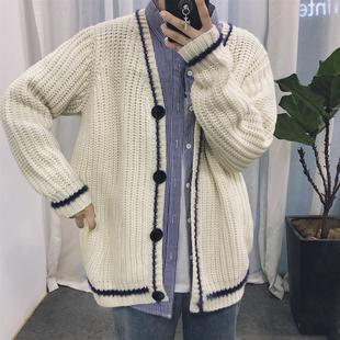 вязаная кофта мужчины корейский 2017 осенью пальто мужской свитер slim досуг Сплошной цвет вязать свитер v воротник