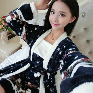 F141#最新款女装秋冬季高档性感美丽吊带裙加睡袍睡衣家居服