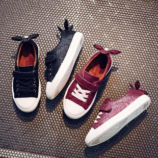 спорт и отдых зимой плюс кашемир детей обувь бант на липучках обуви теплую обувь кроссовки кожа