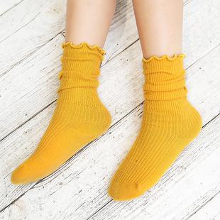 秋季新款婴儿长筒袜 全棉宝宝袜子 花边高筒儿童堆堆袜厂家直销
